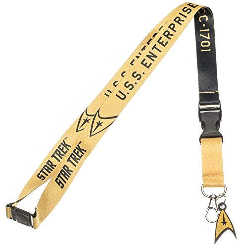 Bioworld Star Trek ID Membre Jaune porte-badge porte-clés lanière de sécurité