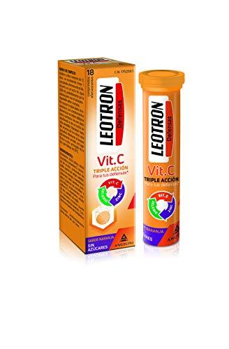 LEOTRON Vitamina C - 18 Comprimidos - Complemento alimenticio con vitamina C, zinc y selenio con edulcorantes