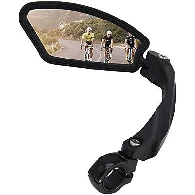 Arkham Fahrradspiegel Rückspiegel Generation 2.0 EIN Viereck Links,HD Edelstahl Spiegel?1 Stück Links Viereck?