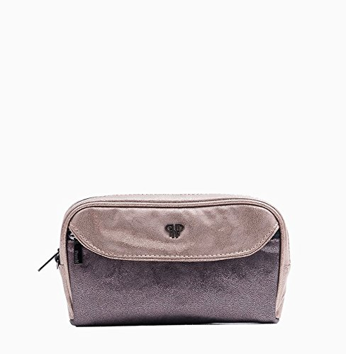 PurseN Clutch Makeup Travel Organizer Lipstick Beauty Case Bronze Luster