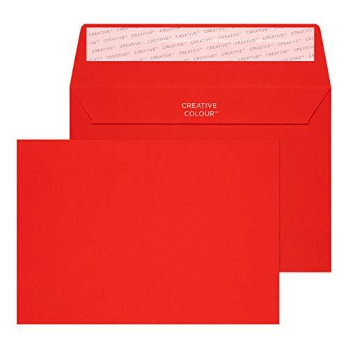 Creative Colour 15106 Farbige Briefumschläge Haftklebung Pillar Box Rot C6 114 x 162 mm 120g/m² | 25 Stück
