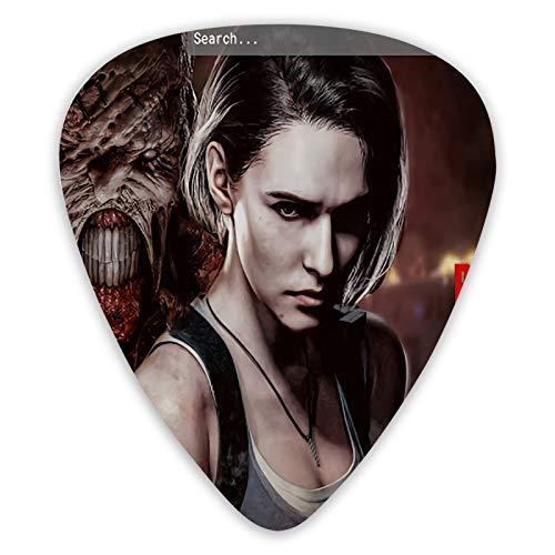 Resident Evil Remake - Juego de 12 púas de doble cara para guitarra