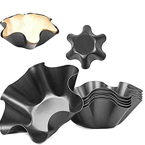 Tashido Paquete de 8 moldes para tartas perfectos, antiadherentes, taco Shell Tortilla Pan Maker Ensaladera