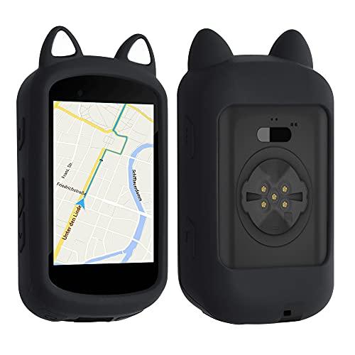 kwmobile Funda Compatible con Garmin Edge 530 - Carcasa de Suave Silicona para GPS de Bicicleta - con Gato