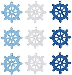 VOSAREA Lot de 100 mini gouvernail en bois pour scrapbooking, maison, embellissements, décoration, 25 x 25 cm