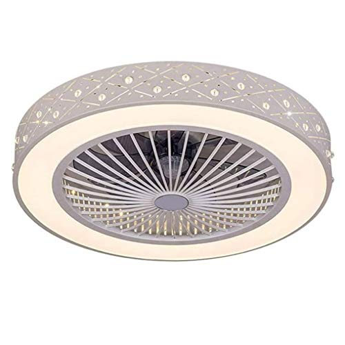 LANMOU Fan Deckenlampe Deckenventilator mit LED Beleuchtung und Fernbedienung Leise Ventilator Kreative Unsichtbare Deckenventilatoren Beleuchtung für Kinderzimmer Wohnzimmer Schlafzimmer, 36W, Ø59cm