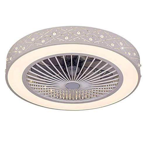 QJUZO Fan Deckenlampe Deckenventilator mit LED Beleuchtung und Fernbedienung Leise Ventilator Kreative Unsichtbare Deckenventilatoren Beleuchtung für Kinderzimmer Wohnzimmer Schlafzimmer, 36W, Ø59cm