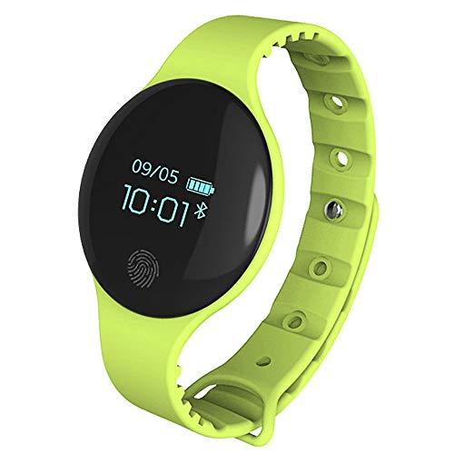 THINKMIC Reloj Inteligente, Bluetooth, Inteligente, Salud y Fitnes, Monitor de sueño, podómetro, Mujer, Hombre, Pulsera Deportiva, Resistente al Agua, Reloj de Pulsera