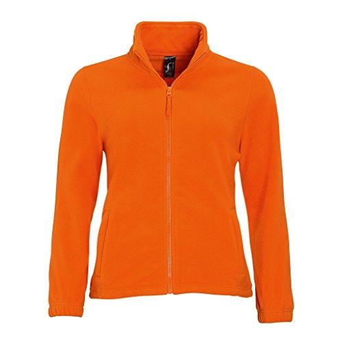 SOLS Damen North Fleece-Jacke mit durchgehendem Reißverschluss (Large) (Orange)