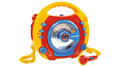 Toy Place - CD Player mit Zwei Mikrofon Farbe: Rot / Gelb / Blau / Grün = 1 Stück