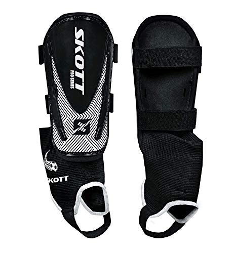 skott Soccer Shin Guards for Great Protection - Shin Guards Soccer for Youth with or Without Sock Option - Field Hockey & Soccer Kids Shin Guards - Lightweight Shin Pads Pair with Unisex Design
