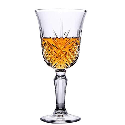Copa de Cristal de Cristal de Vino de Vidrio de Vino de Vino Tinto, Adecuado para Regalos de Bebidas de la Fiesta de Barra 160 ml,160ml