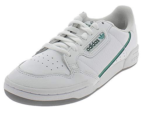 adidas Continental 80, Scarpe da Ginnastica Uomo, Ftwr White/Glory Green/Collegiate Green, 43 1/3 EU