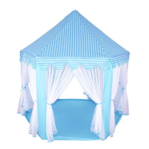 Cojín de Dormitorio Alfombra de Paño Grueso Coralino Estera de Arrastre Forma Hexagonal /Redonda/Cuadrada para Tienda de Campaña Infantil - Azul, Hexagonal 140x120cm