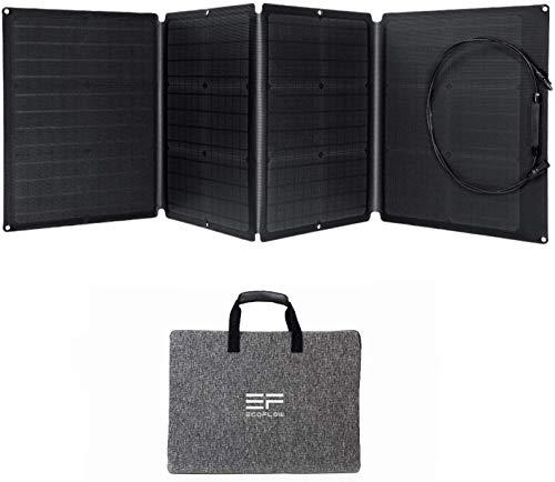 ECOFLOW- Panel Solar Portátil de110W para EFDELTA,Cargador Solar Plegable Encadenable para Central Eléctrica Impermeable EFDELTA IP67 para acampar al aire libre RV
