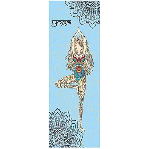 DGHJK Alfombrilla de Ejercicio Antideslizante Alfombrilla de Yoga de alineación de algodón 72x31in / 183x80cm Colchoneta de Yoga para Correr Natación Entrenamiento de Yoga