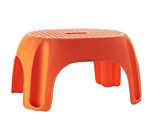 RIDDER Assistent  A1102614 Schemel, Tritt, Kinder-Hocker, Eco, orange