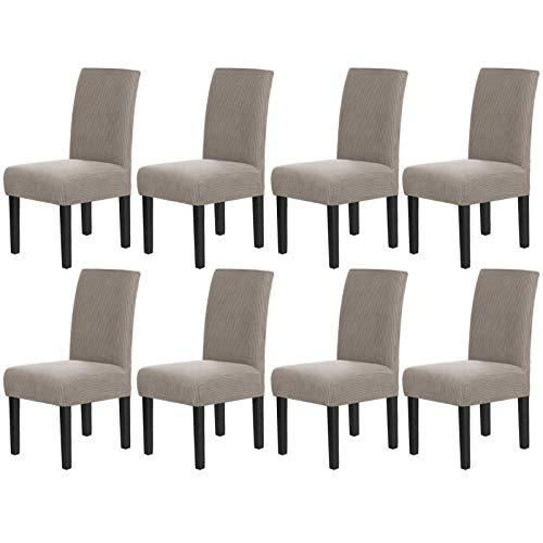 Fundas para sillas de comedor, elásticas, ajustable, extraíbles y lavables