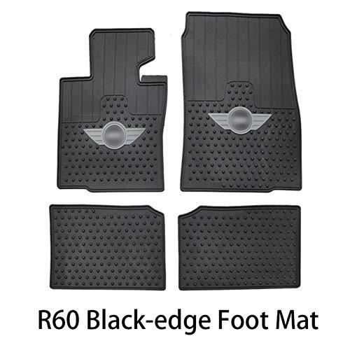Alfombrilla antideslizante de goma para Mini Cooper S JCW Clubman F54 F55 F56 F60 R55 R56 R60 Countryman Accesorios para accesorios de coche (color : R60 borde negro Mat14)