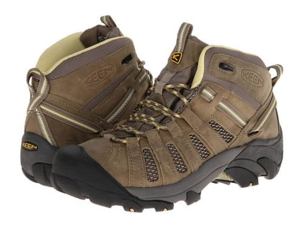 いらいらさせる福祉かりてKeen(キーン) レディース 女性用 シューズ 靴 ブーツ ハイキングブーツ Voyageur Mid - Brindle/Custard 5 B - Medium [並行輸入品]