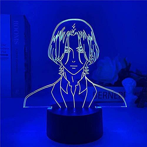 FUTYE Lámpara de anime Sk8 The Infinity Figure Langa Hasegawa 3D Led Night Light Sk∞ Niños Regalo Lámpara de mesa Ventilador Decoración de habitación Modo Flash Control remoto