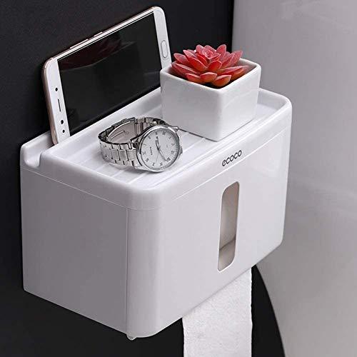 Soporte para caja de pañuelos MGE, soporte de pared para papel higiénico, bandeja de plástico creativa, caja de pañuelos dispensador de papel, caja de almacenamiento para baño y cocina