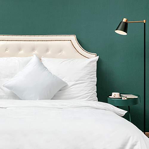 Homfy - Juego de funda de edredón 100% de algodón lavado, con fundas de almohada, hipoalergénico y ultrasuave, aspecto arrugado natural, algodón, Blanco, Super King (220x260cm+2x75x50cm)