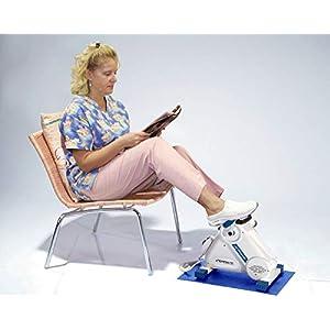 Exerpeutic Motorized Leg and Arm Pedal Exerciser Mini Exercise Bike with Bonus Mat