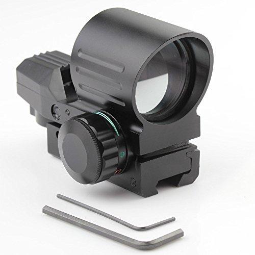 VERY100 Leuchtpunktvisier Reflexvisier Red Dot Visier Red Dot 4 Absehen und 5 Stufen Helligkeitsreglung für 11mm Weavermontag