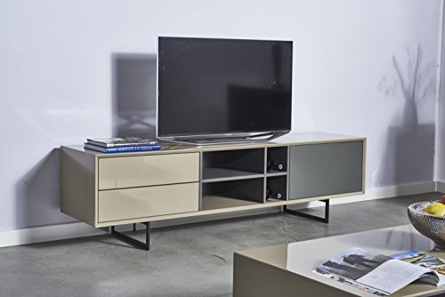 TV-Schrank TITRAN modernes TV-Lowboard in Taupe Beige hochglanz & anthrazit grau matt, mal kein weiß oder schwarz, 180 x 42 x 50 , Fernsehschrank inkl Lieferung und Montage! - 7