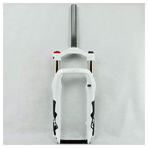 Horquilla de Bicicleta Horquilla BMX Horquilla Delantera de Bicicleta de Nieve para Bicicleta Aleación de Aluminio de 20 Pulgadas Suspensión de Aire 100Mm Viaje 1-1/8'Tubo de dirección para llant TT
