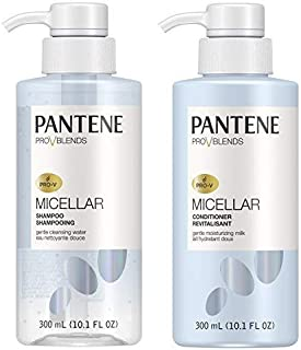Pantene, Shampoo and Conditioner Kit, with Micellar Water and Micellar Milk, Cleansing and Moisturizing Pro-V Blends, 10.1...