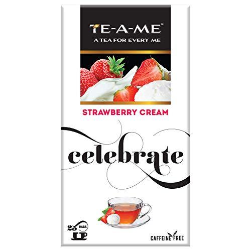 TE-A-ME Strawberry Cream Infusion, 25 Tea Bags (3 Flavored Bags Free)