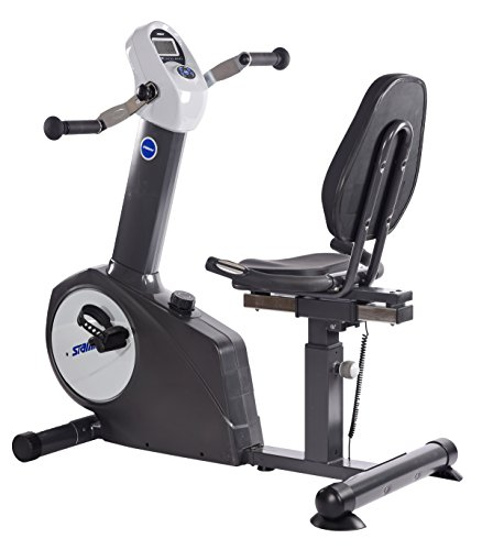 Stamina Elite Total Body Recumbent Bike, Metallic grey