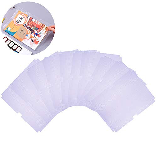 INTVN Cubierta de libro de plástico, protectores transparentes de plástico autoadhesivos impermeables para cubiertas de libros, película protectora,10 PCS