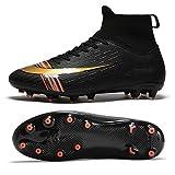 Botas de fútbol Zapatillas de fútbol Profesionales Unisex Espigas de Alta tecnología Cómodo Estándar Código Europeo 40 Negro