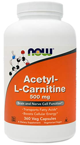 Now Foods Acetyl-L-Carnitine ACL 500 mg, 360 Veg Capsules - Non-GMO