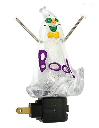 Roman Luz de Noche de plástico con diseño de Fantasma de Halloween de 6 1/2 Pulgadas