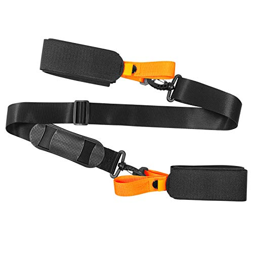 SHFAMHS Ski Straps for Carrying, Skiing Accessory for Easy Transportation of Your Ski Gear, Feel Comfortable Walking to and from The Mountain, Adjustable Size Great 2 Packs