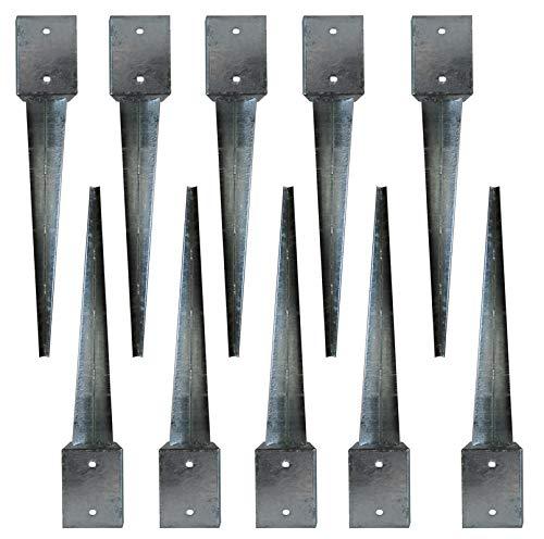 Bodenhülse 81x81x750 Verzinkte Erdanker 75cm Einschlagbodenhülse Einschlaghülse (10)