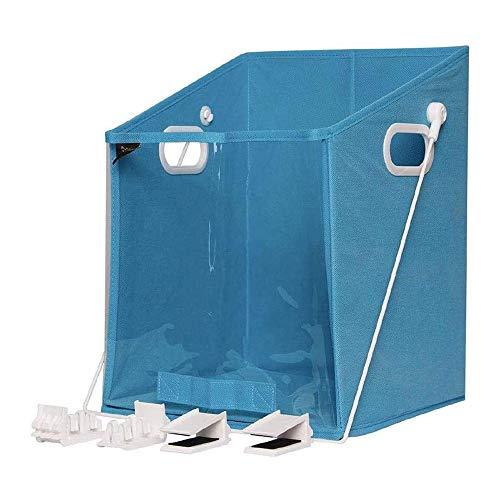 BSJR Closet Dirty Clothes Storage Organizer Case,Closet Clothes Storage Organizer Case Rotatable Retrieve for Bedroom Nursery Dorm Closet,for Storage Dirty Clothes Toys. (Sky Blue)