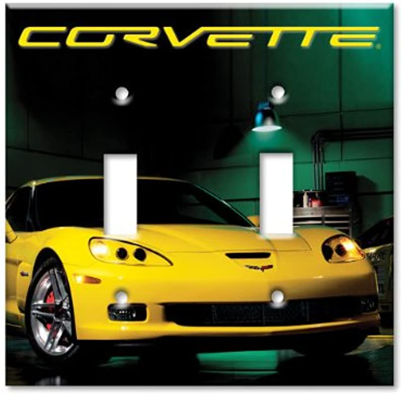 C6 Z06 Yellow Light Switch Plate Cover Double