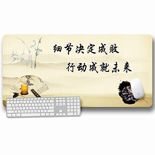 JIACHOZI raton y alfombrilla gaming Estilo chino ciruela bambú arte de caracteres chinos. 1200×600×3 mm Alfombrilla de Ratón Grande, Alfombrillas Gaming Raton Ordenador XXL Mouse Pad, Almohadilla de E