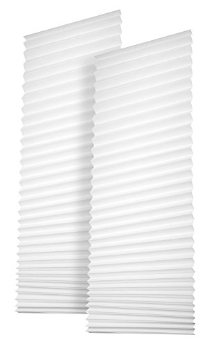 Easy-Fensterfix® – Rollo, Jalousie, Plissee – Sichtschutz aus Papier – ohne Bohren – für Fenstertüren – Weiss – bis 121 cm