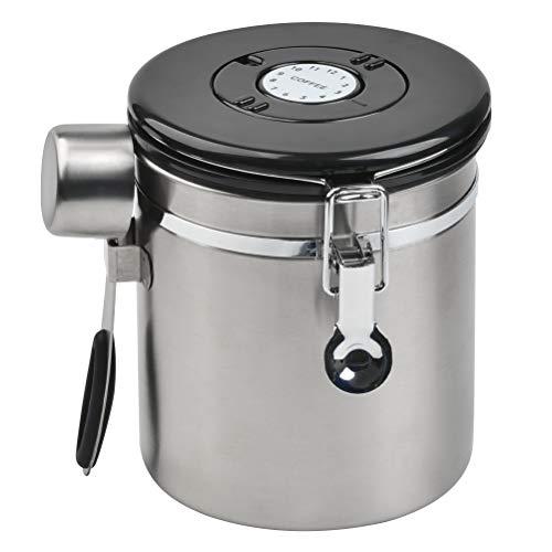 JAOMON 1.5L Contenitore Sottovuoto per Chicchi di Caffè, Contenitore Ermetico Sigillato Sottovuoto, Contenitore per Barattolo per Caffè, Tè, Caramelle, Spezie 1 Cucchiaio Incluso (Primario)