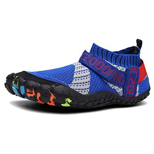 SXQSNKJ Zapatos Descalzos Zapatos acuáticos para Mujer Zapatos Deportivos para Correr Zapatos de baño en la Playa Zapatos de Ciclismo Casuales Aqua Low Risegolf,Blue-47(UK12)