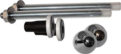 Fominaya 0111564019 Kit de 2 tornillos de sujeción para inodoro/bidé, Negro, Estandar