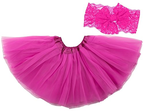 Dancina Baby Tüllrock Tutu Classic Set m. passendem Haarband Pink Classic 6-23 Monate