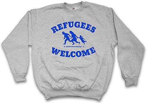 Urban Backwoods Refugees Welcome II Sweatshirt Pullover Grau Größe M