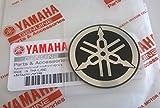 Yamaha 100% Original 45mm Diámetro Diapasón Emblema Adhesivo Logo Plata / Motociclismo Negro / Jet Ski / Atv / Nieve